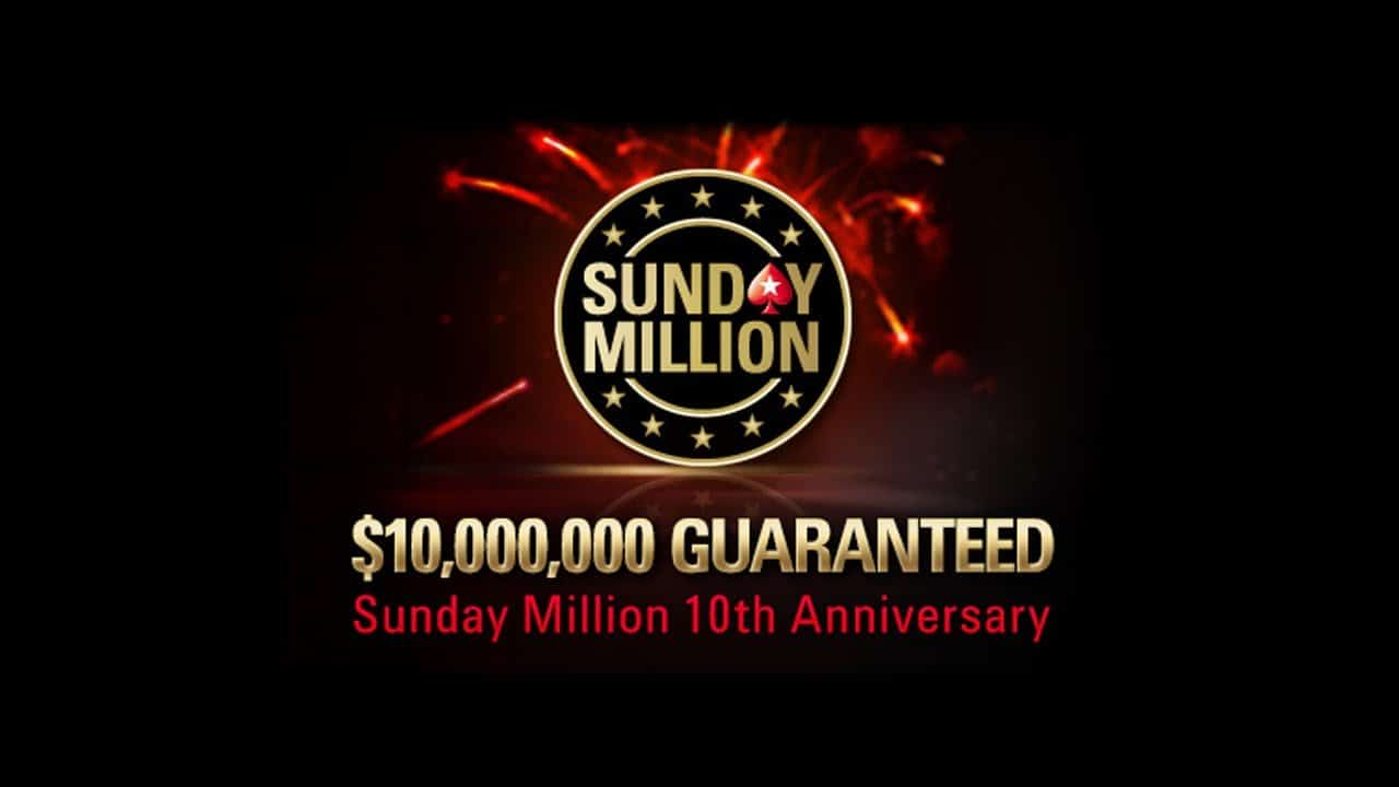 Sunday Million 10,000,000 Guaranteeed